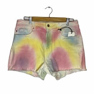 NWT Vigoss High Rise Tie-Dye Denim Shorts